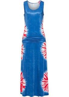 Платье с рисунком (синий батик) Bonprix