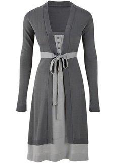 Платье (серый/светло-серый) Bonprix