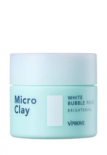 Маска для лица Vprove пенная Micro Clay с черной глиной, осветляющая, 70 мл