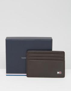 Коричневый кожаный кошелёк для карт Tommy Hilfiger Eton - Коричневый