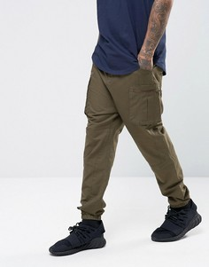 Зауженные спортивные штаны с карманами-карго ASOS - Зеленый