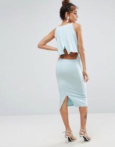 Платье миди с кроп-топом ASOS - Синий
