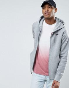 Худи серого цвета Nike SB Icon 800149-063 - Серый