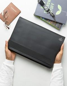 Кожаный чехол для Macbook с блестящим тиснением ASOS 13 - Черный