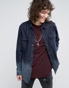 Свободная джинсовая юбка с вышивкой на воротнике Roadies of 66 - Черный