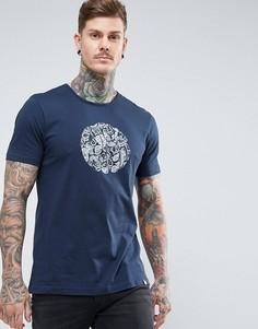 Темно-синяя футболка с логотипом Pretty Green Thornley - Темно-синий