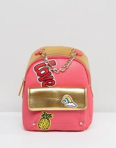 Рюкзак колор блок 7X - Розовый