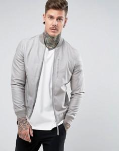 Замшевый бомбер AllSaints - Серый