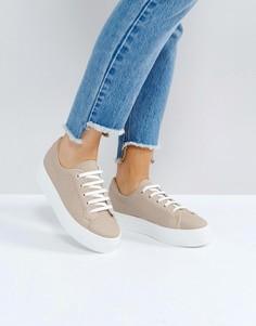 Кроссовки на шнуровке ASOS DAY LIGHT - Бежевый