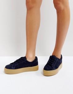 Замшевые кроссовки на шнуровке ASOS DAY LIGHT - Темно-синий