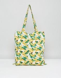 Пляжная сумка с принтом бананов Vero Moda - Мульти