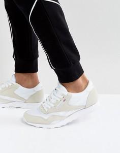 Белые кожаные кроссовки Reebok Classic 6390 - Белый