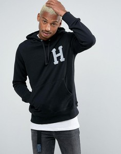 Худи со светоотражающим логотипом HUF - Черный