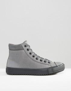 d7f1fda2fec1 Серые кеды-ботинки Converse Chuck Taylor All Star Converse 153673C-057 -  Бежевый