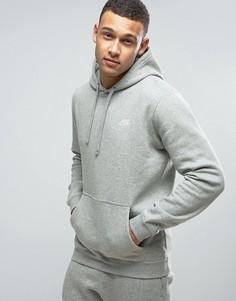 Худи серого цвета с вышитым логотипом Nike 804346-063 - Серый