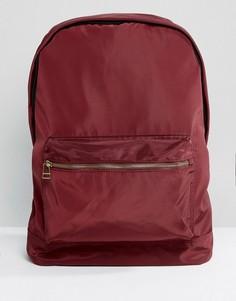 Бордовый атласный рюкзак ASOS - Красный
