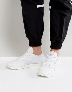 Белые кожаные кроссовки Reebok Classic ALR BS5241 - Белый