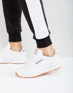 Белые кожаные кроссовки Reebok Classic 49799 - Белый