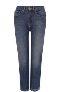 Укороченные джинсы с потертостями Victoria by Victoria Beckham