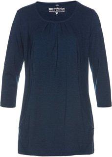 Удлиненная туника с карманами (темно-синий) Bonprix