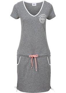 Пляжное платье (серый меланж) Bonprix