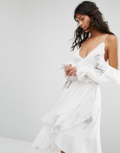 Платье с вырезами на плечах Stevie May Driftwood - Белый