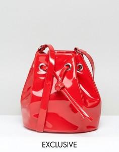 Лакированная сумка Monki - Красный