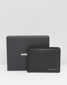 Черный кожаный бумажник с отделением для мелочи Diesel Hiresh XS - Черный
