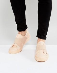 Розовые кроссовки с эластичными вставками ASOS - Розовый
