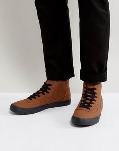 Светло-коричневые скейтерские кеды на шнуровке с черной подошвой ASOS - Рыжий