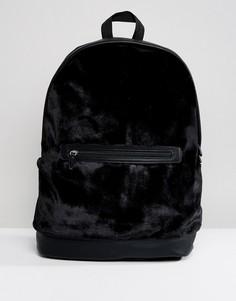 Черный бархатный рюкзак ASOS - Черный