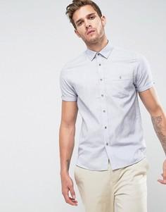 Облегающая рубашка с короткими рукавами Ted Baker - Синий