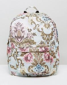 Жаккардовый рюкзак с цветочным принтом ASOS - Мульти