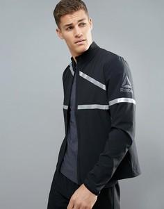 Черная светоотражающая куртка Reebok Running BR4388 - Черный