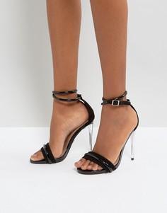Черные босоножки на каблуке Lost Ink - Черный