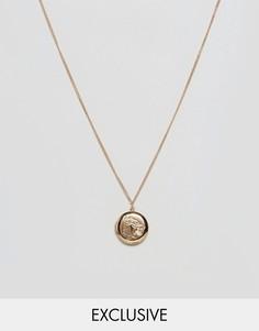 Ожерелье с медальоном Reclaimed Vintage Inspired - Золотой