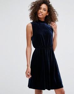 Платье с высокой горловиной Vila - Темно-синий