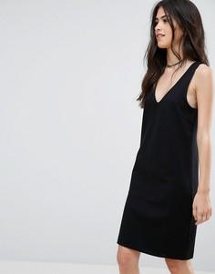 Платье с V-образным вырезом Vila - Черный