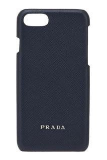 Кожаный чехол для IPhone 7 Prada