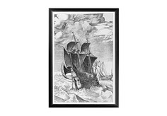 Арт-постер «Брейгель: Корабль в бурном море» Object Desire