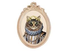 Репродукция гравюры «Мисс Кошка» в раме «Бернадетт» Object Desire