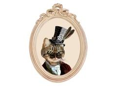Репродукция гравюры «Мистер Кот» в раме «Бернадетт» Object Desire