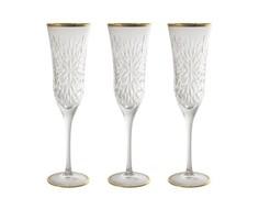 """Бокалы для шампанского """"Умбрия - золото"""" (6 шт) Same"""