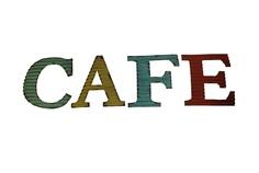"""Табличка со словом """"Cafe"""" Anticline"""