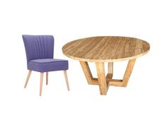 """Обеденная группа """"DONA"""" (стол + 4 стула) My Furnish"""