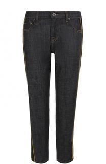 Укороченные джинсы прямого кроя с лампасами Victoria by Victoria Beckham