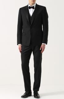 Шерстяной смокинг-тройка с шелковыми лацканами Dolce & Gabbana