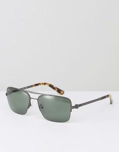 Солнцезащитные очки в квадратной оправе CK Collection - Серебряный Calvin Klein