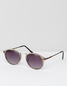 Круглые солнцезащитные очки Jeepers Peepers - Прозрачный