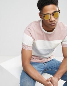 Солнцезащитные очки в стиле ретро с черепаховой оправой и золотистыми линзами ASOS - Коричневый